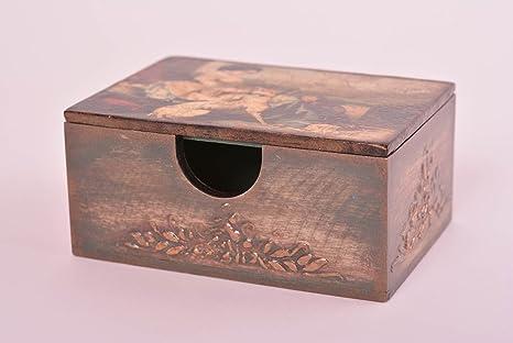 Dipingere Portagioie Di Legno : Scatola portagioie fatto mano scatola in legno découpage design
