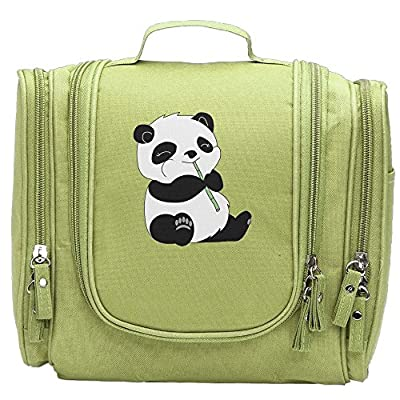 fbab1b306c Music Lover Panda Hanging Toiletry Bag Travel Cosmetic Organizer Makeup  Pouch Shaving Kit on sale