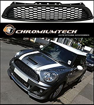 Black Sport Front Hood Grille for Mini Cooper /& One LCI R55 R56 R57 R58 R59