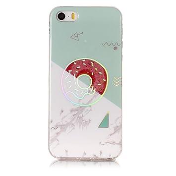 SsHhUu Funda Apple iPhone 5S, Mármol Láser Efecto Diseño ...