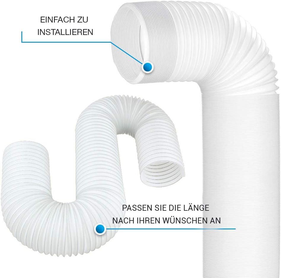 3 m f/ür Klimaanlagen Abzugshaube W/äschetrockner /Ø150 mm Inntek Abluftschlauch PVC
