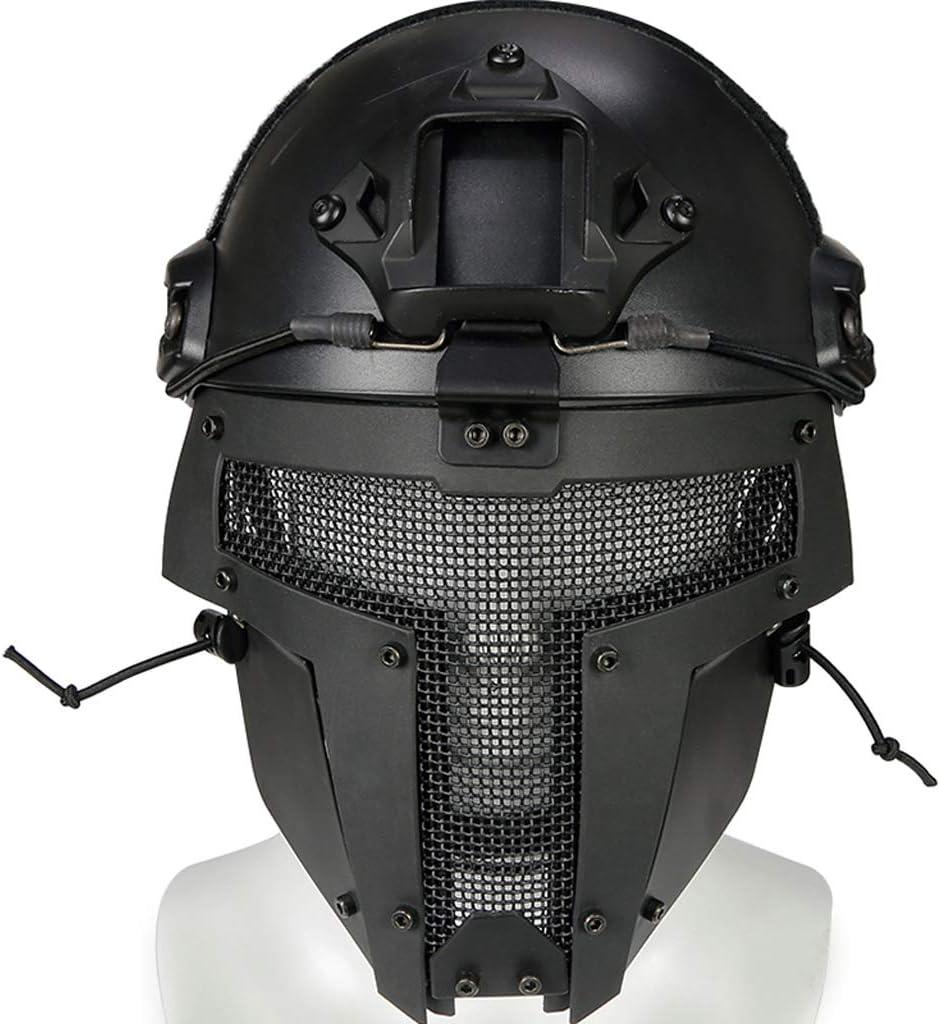 YYHOUS Máscara Táctica De Airsoft Y Rápido Casco Integral Máscara Rápida Casco Táctico para Airsoft/Paintball/BB Pistola/CS Juego/Caza/Disparos