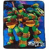 "Nickelodeon Teenage Mutant Ninja Turtles Stars Fleece Blanket, 62 x 90"""