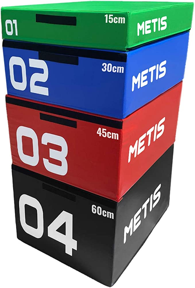 "Crossfit Jump Plyometric Duo Flapack 16/""x14/""x12/"" Plyo Box  MMA Exercise Equip"