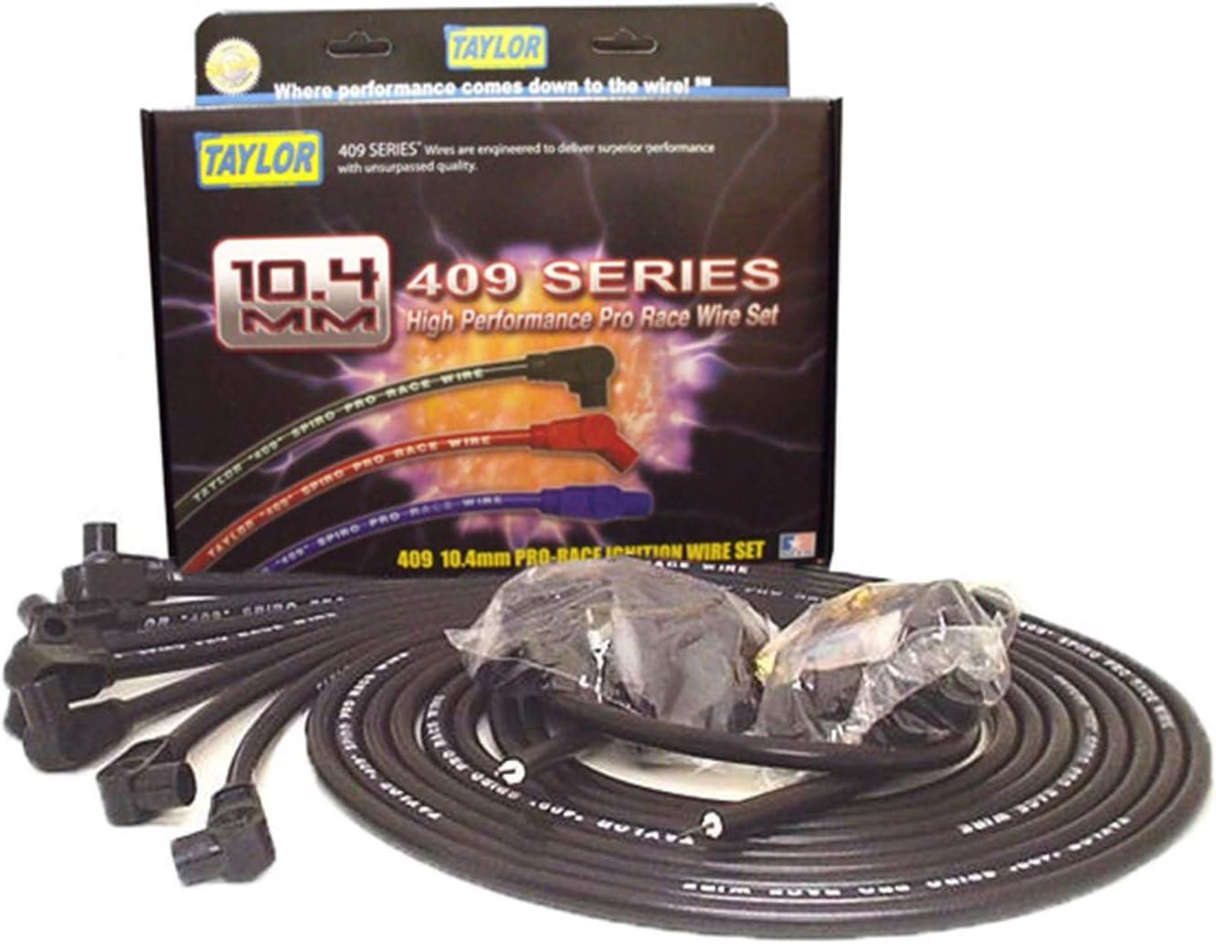 180 Deg Stock 10.625 in Plug Boot 409 Spiro-Pro 10.4mm Ignition Wire Set Taylor Cable 79661 409 Spiro-Pro 10.4mm Ignition Wire Set Blue LT1 // EcoTec3
