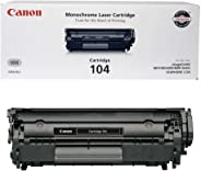 Canon Genuine Toner, Cartridge 104 Black (0263B001), 1 Pack, for Canon imageCLASS D420, D480, MF4150d, MF4270dn, MF4350d, MF4