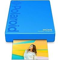 Polaroid - Impresora de bolsillo mint, tecnología Zink sin tinta y Bluetooth integrado para iOS y Android, impresión en papel adhesivo 5 x 7.6 cm, azul