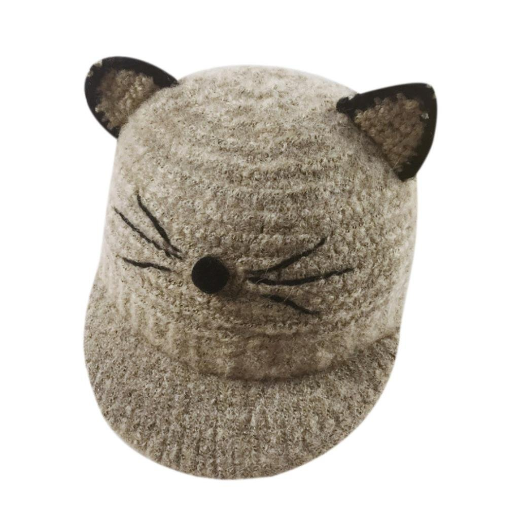 Xshuai Baby Hat for 1-3 Years Old Kids, Fashion Newborn Infant Toddler Cute Winter Warmer Cap Baby Girl Boy Cartoon Cat Big Ears Cotton Hat