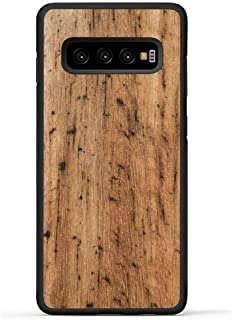 product image for Carved - Samsung Galaxy S10 Plus - Luxury Protective Traveler Case - Unique Real Wooden Phone Cover - Rubber Bumper - Eucalyptus