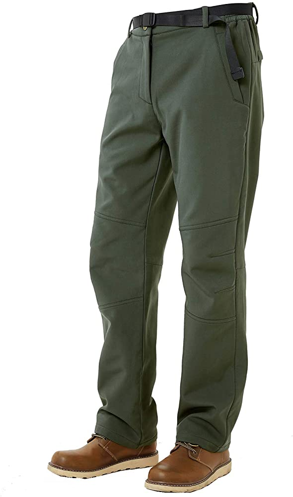 Mens Snow Ski Waterproof Softshell Snowboard Pants Outdoor Hiking Fleece Lined Insulated Trousers