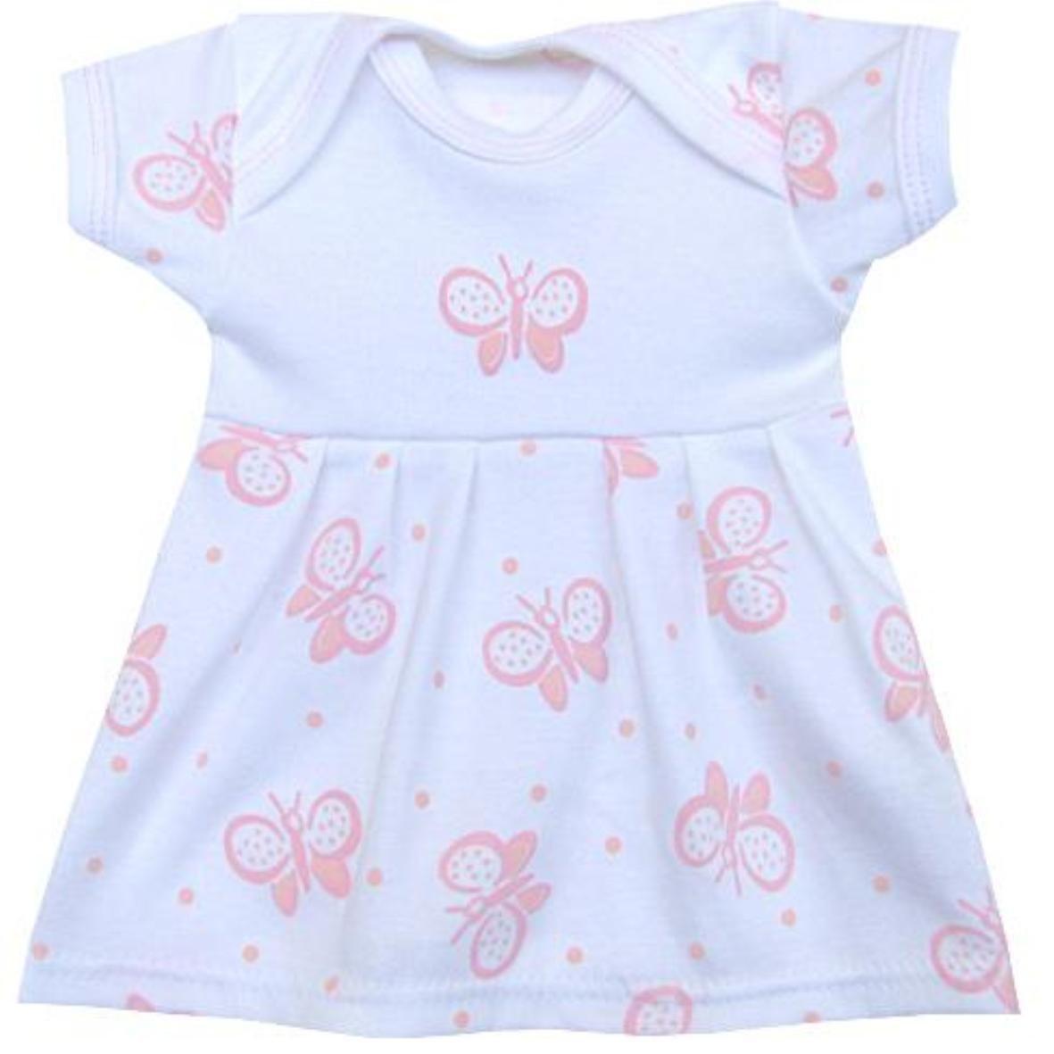 BabyPrem Babywäsche rosa Kleid Frühchen Neugeborene Kleidung 32-50cm