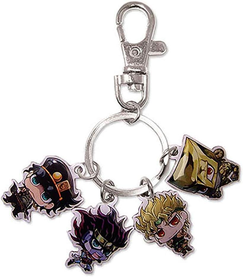 Jojo/'s Bizarre Adventure Joestar Bucciarati Diablo Keychain Wallet Key ring N