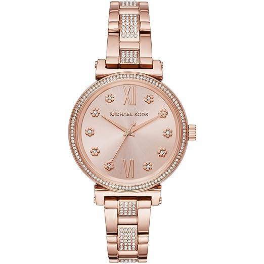 Michael Kors Reloj Analógico para Mujer de Cuarzo con Correa en Acero Inoxidable MK3882: Amazon.es: Relojes