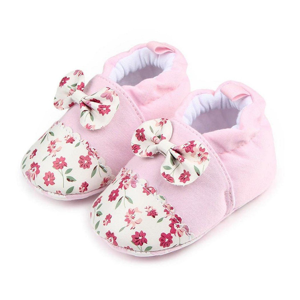 Creazrise Lovely Toddler First Walkers Baby Shoes Round Toe Flats Soft Slippers Shoes