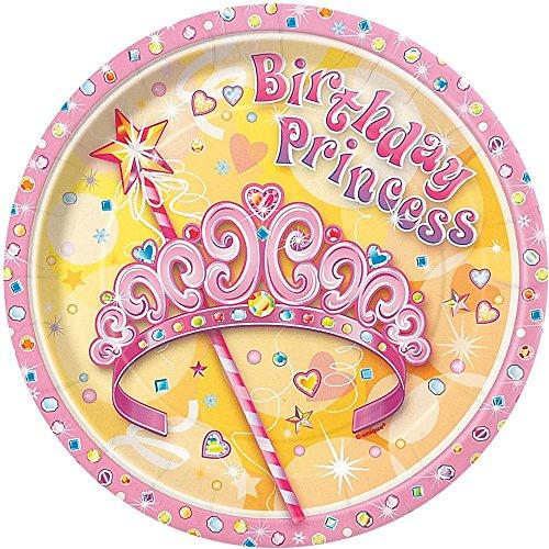 Pretty Princess Dessert Plates, 8ct (Princess Cake Plates)