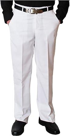 Stahl Moden Pantalones De Tela Para Hombre Con Pliegues Color Blanco Talla 48 52 Blanco 54 Amazon Es Ropa Y Accesorios