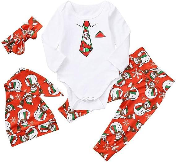 POLP Niño Regalo Navidad Pijama Niñas Bebe Rojo Ropa de Dormir ...