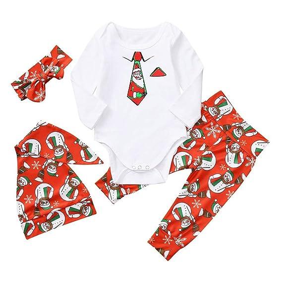 POLP Niño Regalo Navidad Pijama Niñas Bebe Rojo Ropa de ...