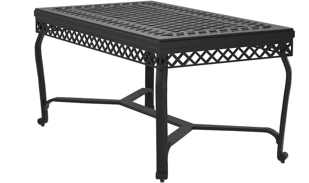 Crosley Furniture Portofino Outdoor Aluminum Coffee Table - Black