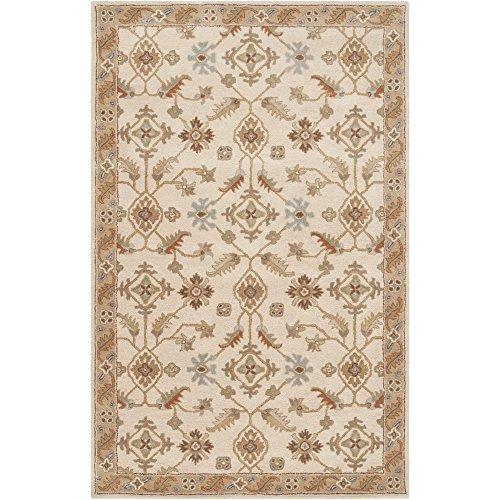 (Surya Caesar CAE-1084 Classic Hand Tufted 100% Wool Dark Olive Green 5' x 8' Traditional Area)