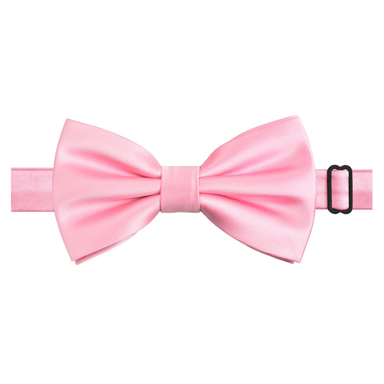 Alizeal Mens Tuxedo Bow Tie/& Hanky/& Cufflinks Set Maroon