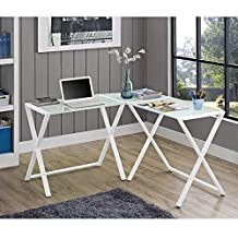 Walker Edison Furniture 3 Piece Corner Computer Desk, White