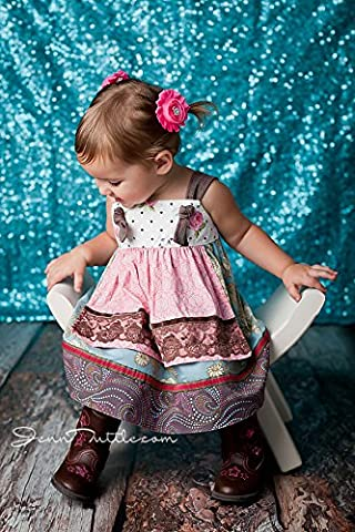 ShiDianYi Turquoise-SEQUIN BACKDROP-2FTx8FT Sequin Photo Backdrop,Photo Booth Background,Sequence Christmas Backdrop Curtain ON SALE (Turquoise)