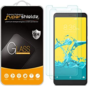 (2 Pack) Supershieldz for ZTE Blade Max 2s Tempered Glass Screen Protector, Anti Scratch, Bubble Free