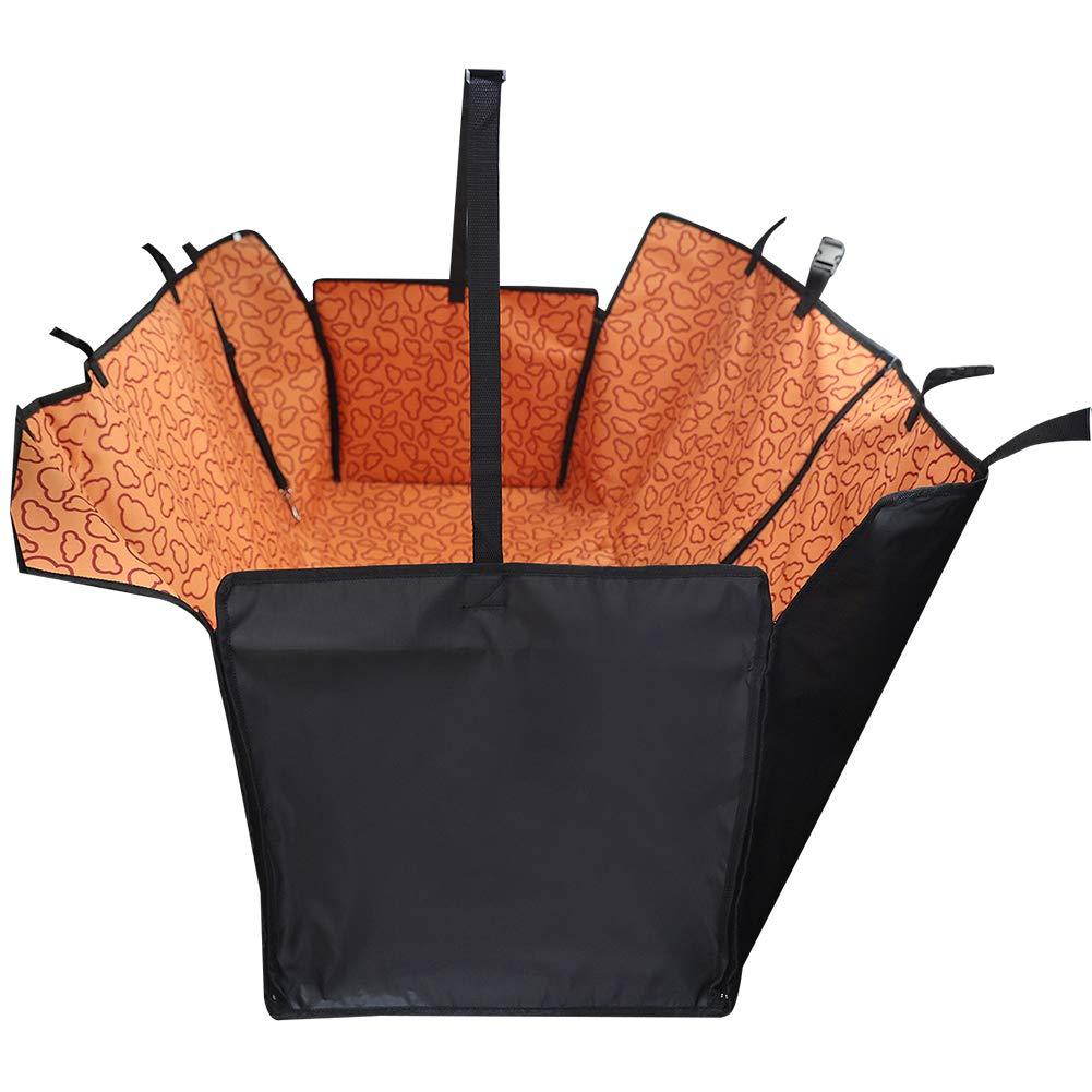 130 * 150 * 55cm per Auto Telo Protettivo per Cani Impermeabile Orange Protezione Laterale MoGist con Cintura di Sicurezza Chiusura Lampo