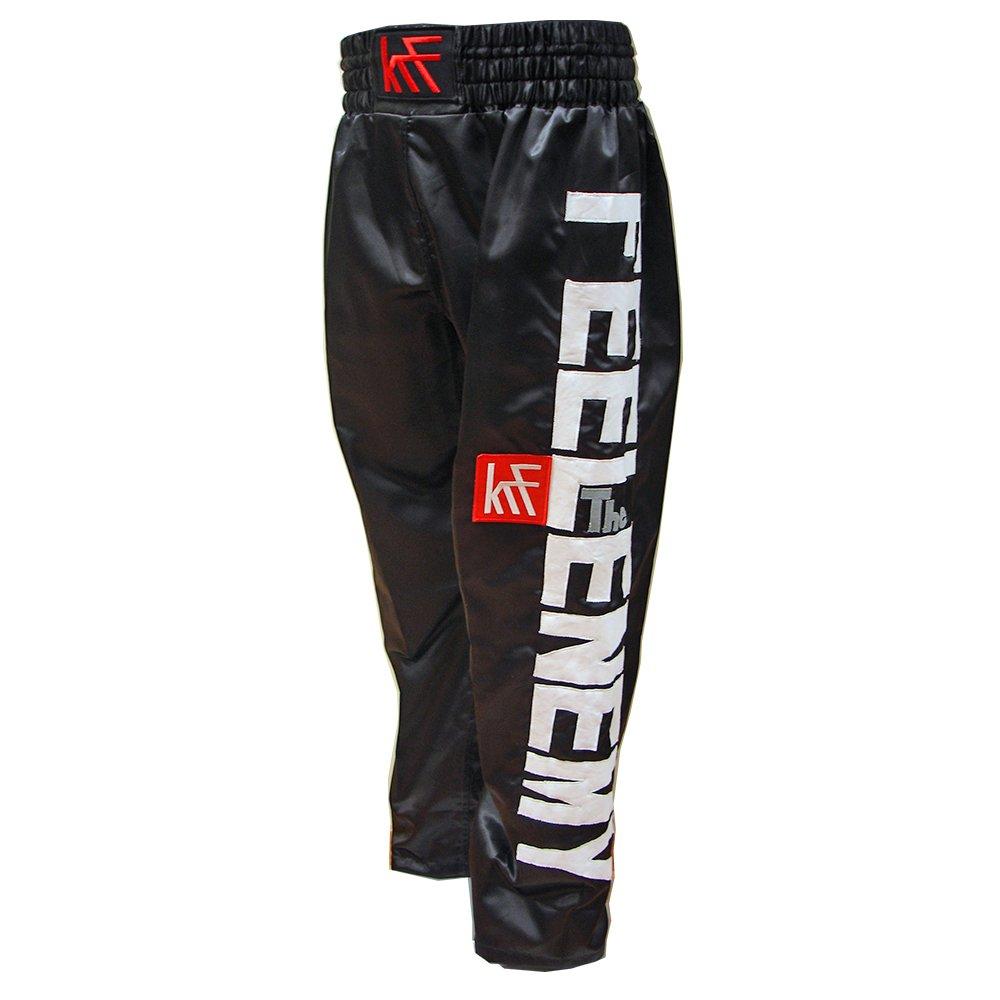 KRF Feel The Enemy Kick Box Pantalones Largos de Boxeo, Hombre