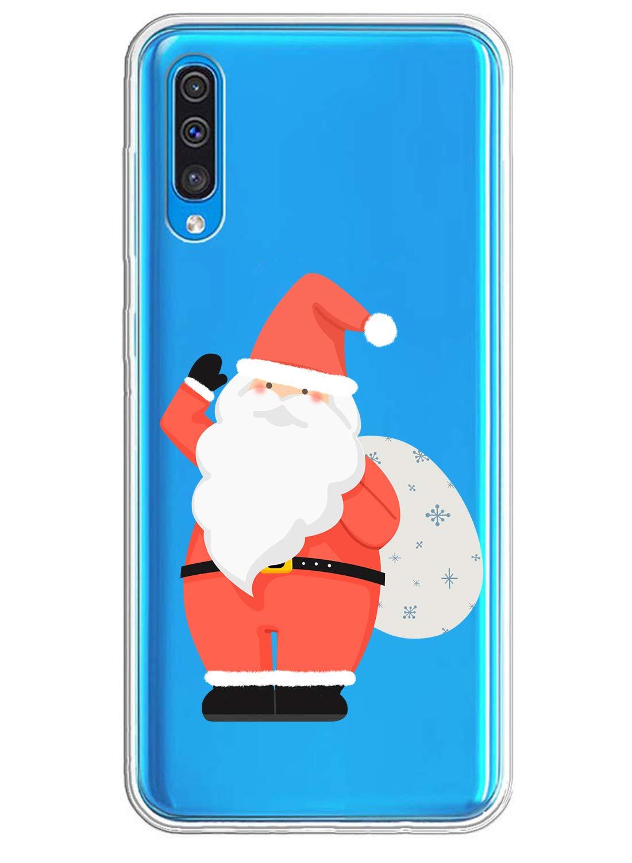 Oihxse ersatz f/ür Samsung Galaxy A40 H/ülle,Transparent Silikon Schutzh/ülle f/ür Samsung Galaxy A50,Crystal Original Durchsichtige TPU Anti-Schock Anti-Scratch Kratzfeste Galaxy A40,Weihnachtsmann 2