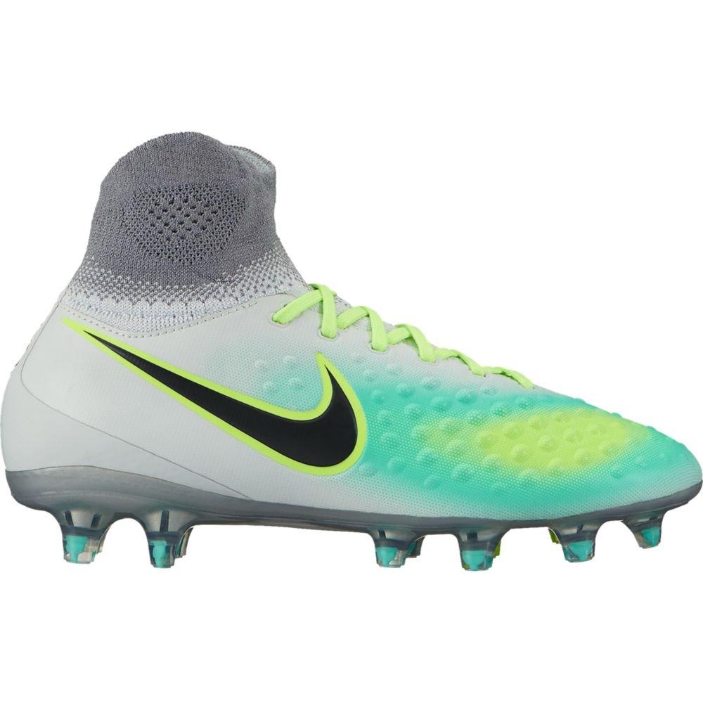 Nike Kids Magista Obra II FG Pure Platinum/Black/Ghost Green Shoes - 4.5Y