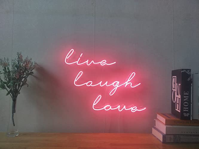 Amazon.com: Live Laugh Love Real Glass Neon Sign For Bedroom Garage ...
