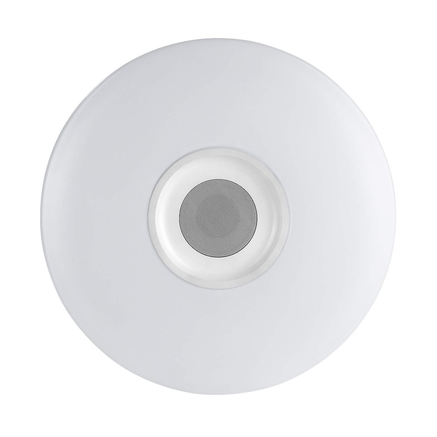 easymaxx 03460 - Lámpara LED de techo con integrado de Bluetooth Altavoz |, Party lámpara de & altavoz Bluetooth® | DIMM Bar, Monótono o Cambio de color ...