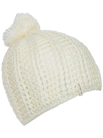 Billabong Bare Bones Womens Beanie Hat White Pom Pom Winter Warm Knit Cap  Ladies One Size dee1fc7c7687