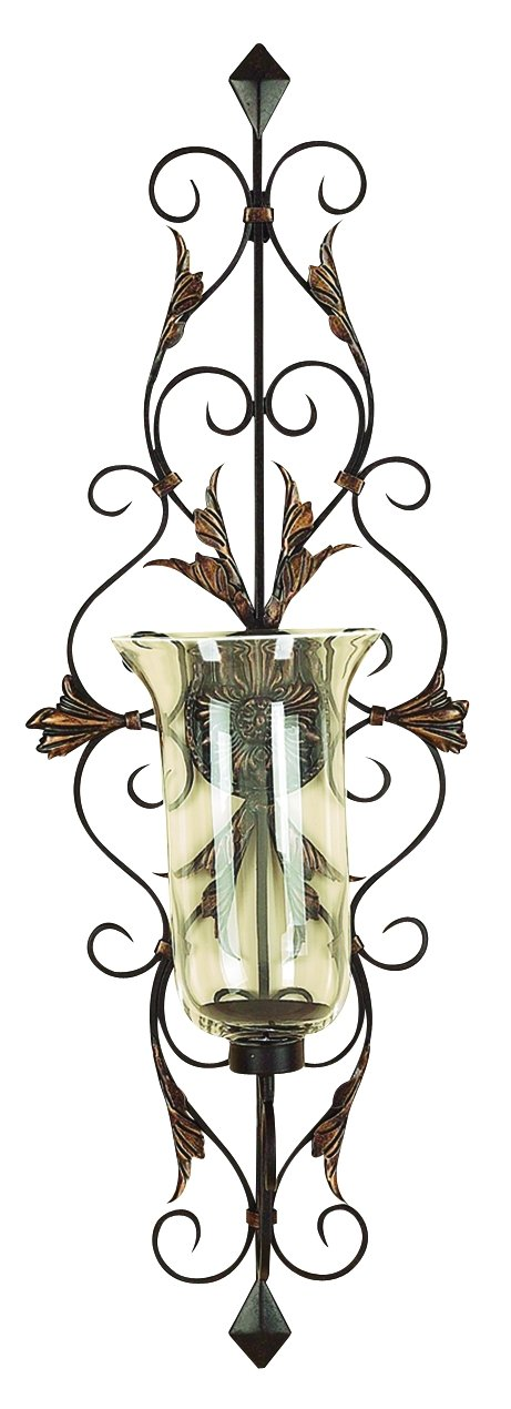 Deco 79 91511 Metal & Glass Candle Sconce by Deco 79