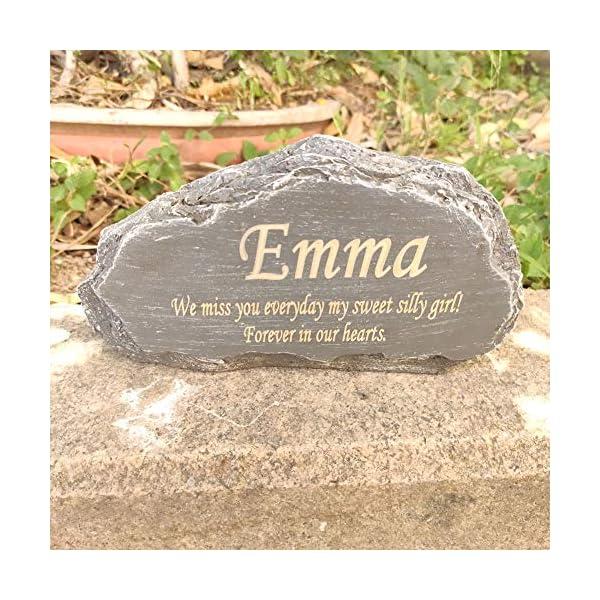 Pet memorial stone Custom Engraved Pet loss gift