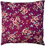 Purple Vintage Floral Cushion Cover Shabby Country Chic Style