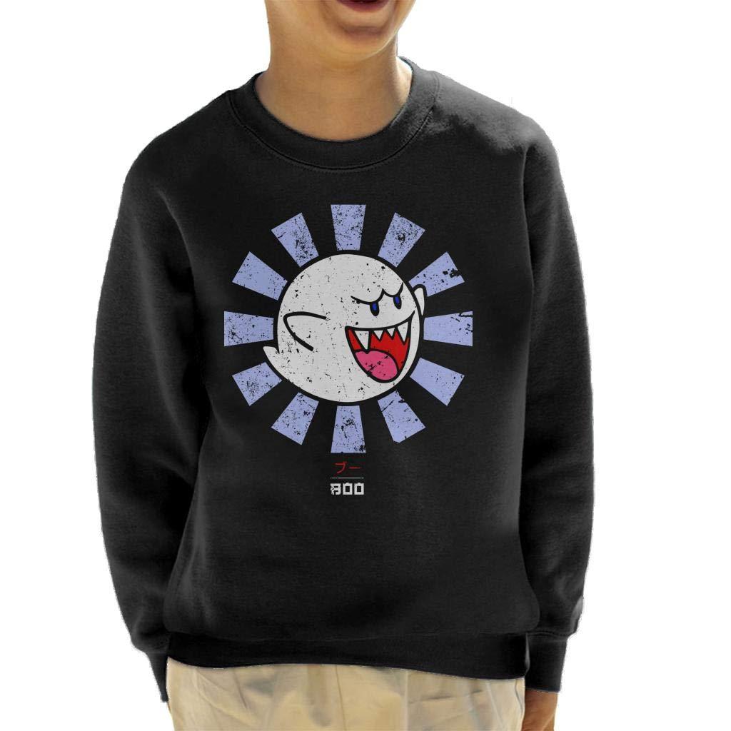 Cloud City 7 Boo Retro Japanese Super Mario Kids Sweatshirt