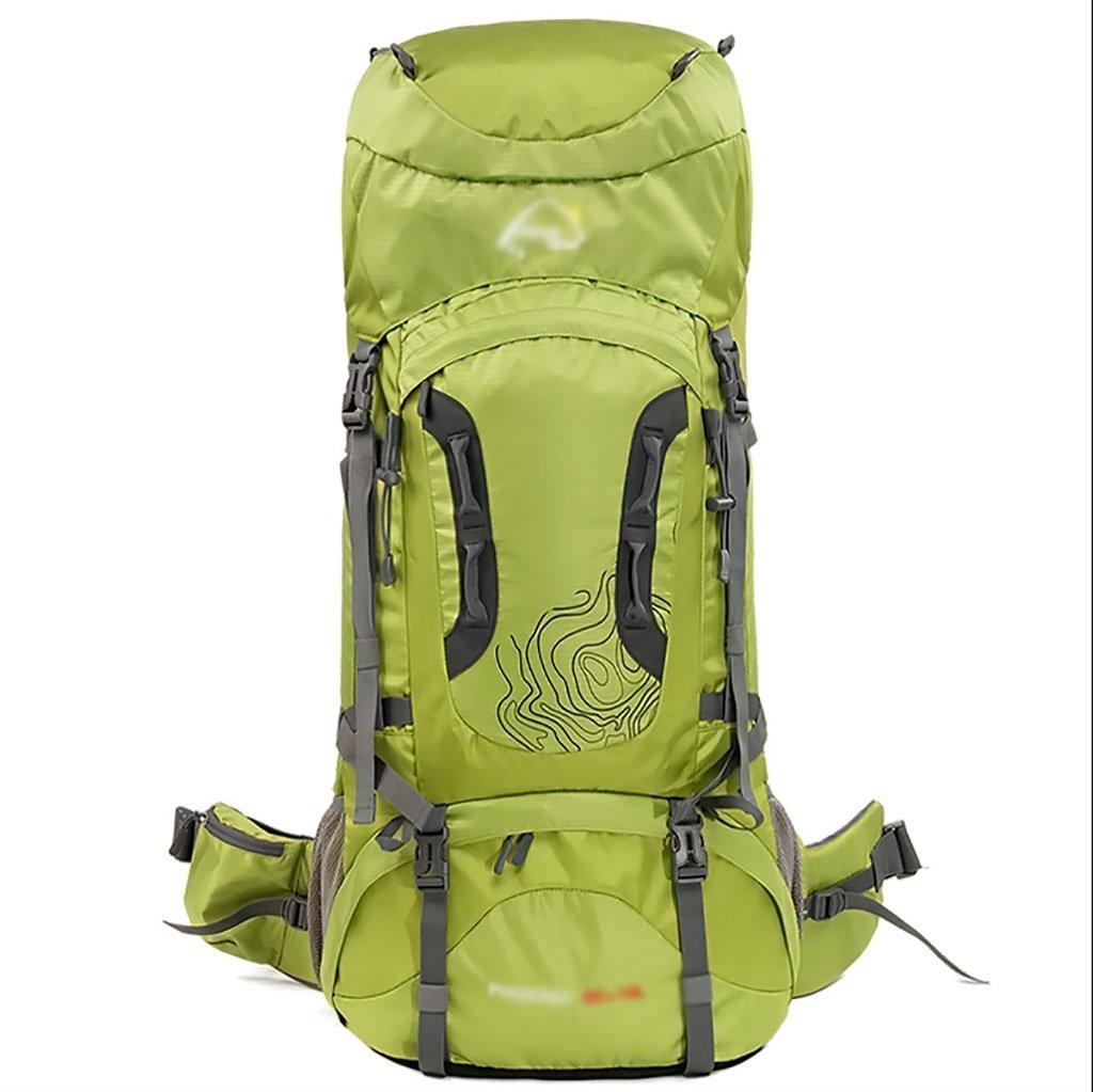 ハイキングバッグ 屋外の60×70×10 l l登山バッグショルダーバッグ大容量 おくがいの60×70×10 l lとざんばっぐしょるだ゜ばっぐだいようりょう ハイキングバックパック ( 色 : 緑 , サイズ さいず : 60+10L ) 60+10L 緑 B07BTL5MJB