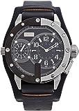 Jean Paul Gaultier - 8500404 - Montre Homme - Cadran Argent - Bracelet Cuir Noir