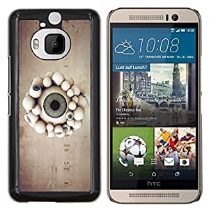 For HTC One M9Plus M9+ M9 Plus Case , Globo ocular desfile- Diseño Patrón Teléfono Caso Cubierta Case Bumper Duro Protección Case Cover Funda