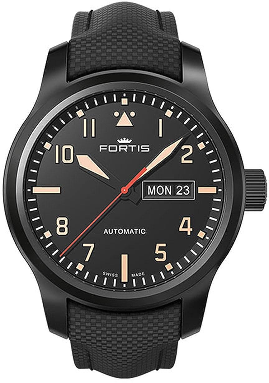 Fortis Reloj los Hombres Aeromaster Stealth Automática 655.18.18 LP 01: Amazon.es: Relojes