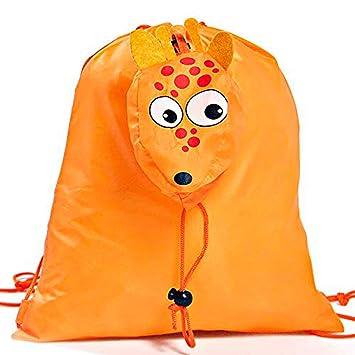 Lote de 20 Mochilas Plegables Animales Jirafa. Color Naranja - Mochilas Escolares, Guarderías, Colegios, Ofertas: Amazon.es: Equipaje