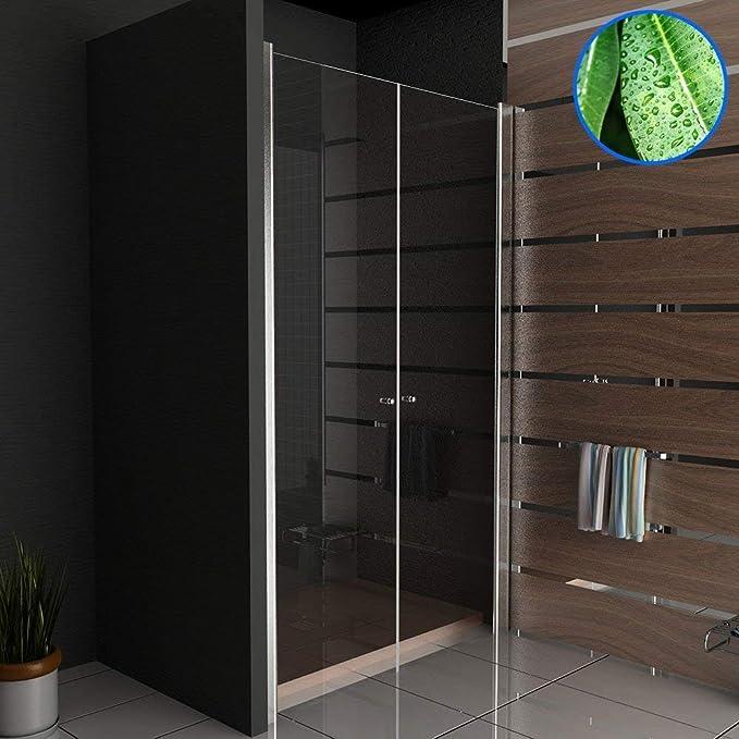 Plegables mampara de ducha Kage 120 x 195 cm con accesorios de ...