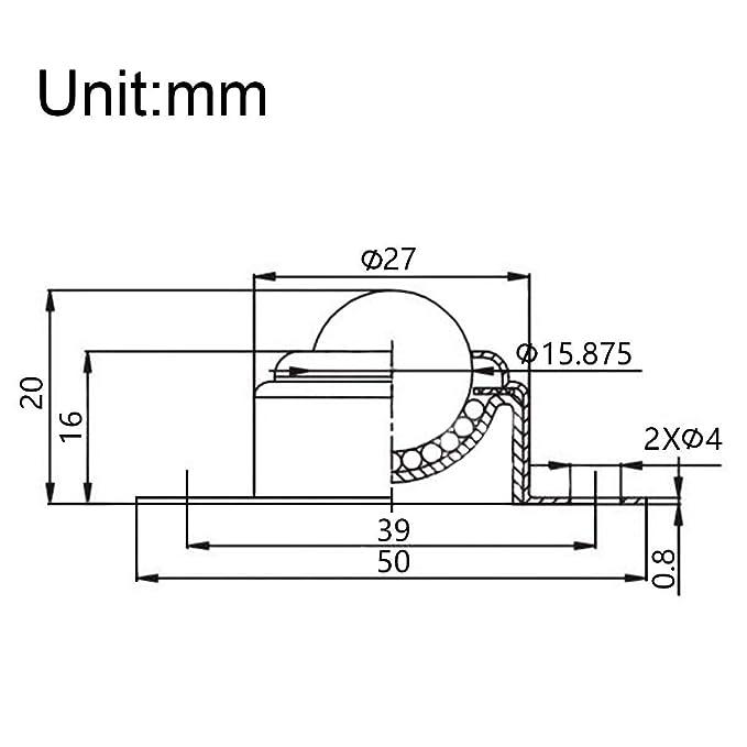Uxcell Lot de 4 roulements /à billes en nylon pour transmission 5//8 Charge 10 kg