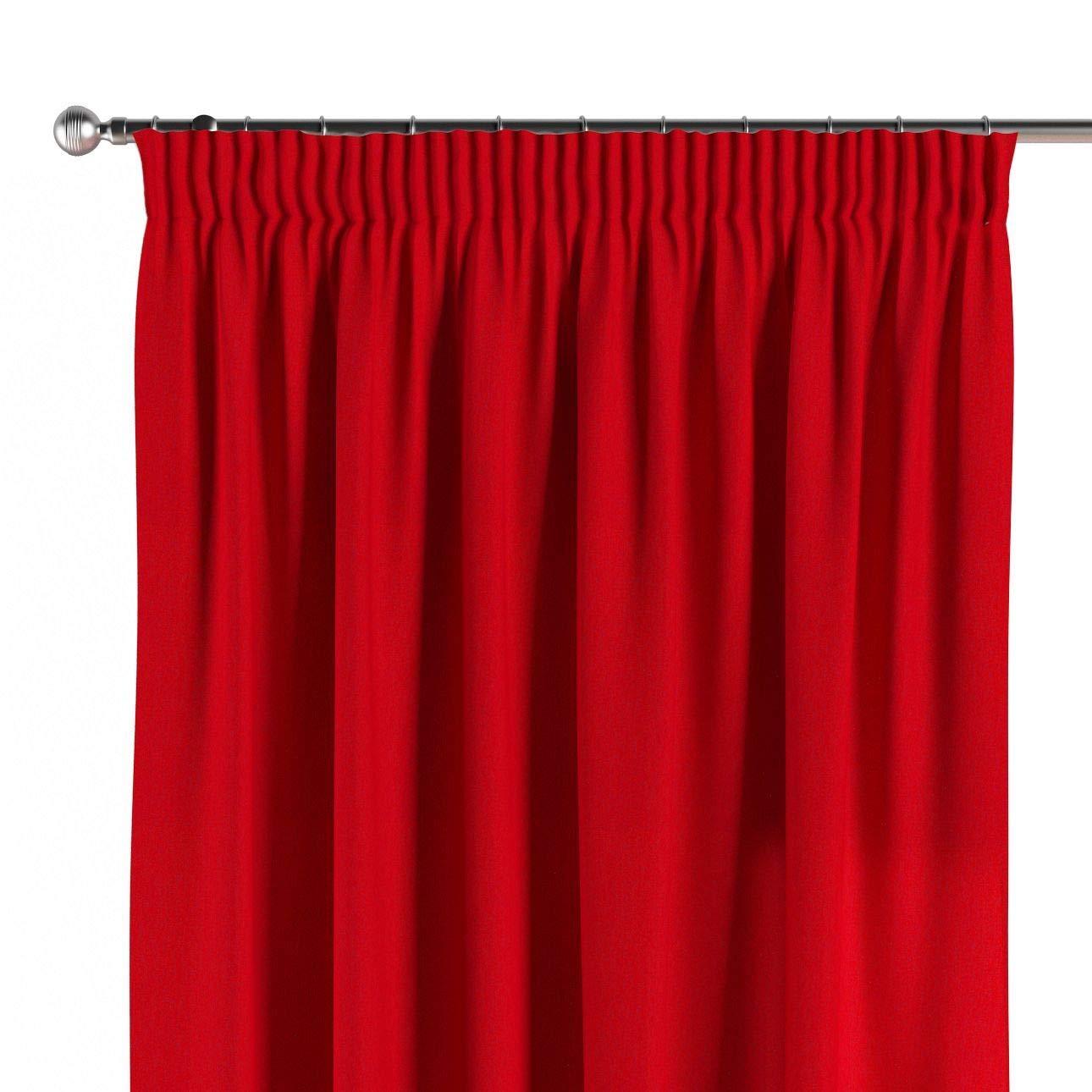 Dekoria Vorhang mit Kräuselband Dekoschal Blickdicht 1 Stck. 130 × 260 cm rot Maßanfertigung möglich