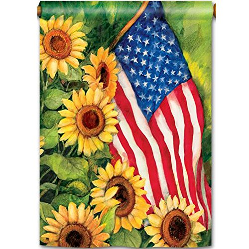 Magnet Works MAIL91101 American Sunflowers Standard Flag