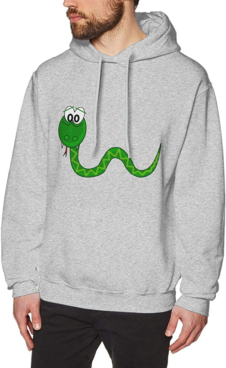 Green Snake XMM Long Sleeve Hoodie Sweatshirt for Men