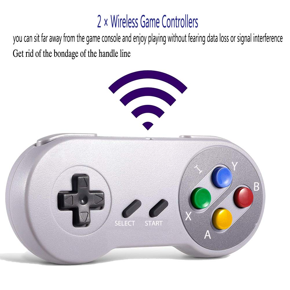 Xinguo Family Classic Game Consoles, Wireless Controller,Childhood Retro Game Console Built-in 557 TV Video Games, with Dual Wireless Controllers. (JP02) by Xinguo (Image #3)